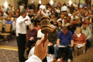 property auction. Bidding at auction
